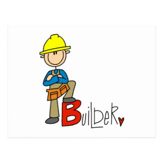 B is for Builder Postcard