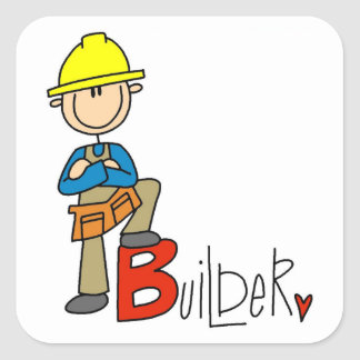 B is for Builder Square Sticker