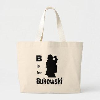 B is for bukowski tote bag