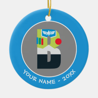 B is for Buzz | Add Your Name Ceramic Ornament