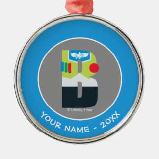 B is for Buzz | Add Your Name Metal Ornament