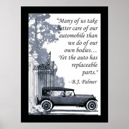B.J. Palmer Chiropractic Saying Poster