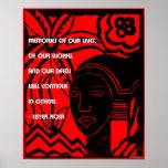 B;lack History Quotes - Sister Rosa Poster