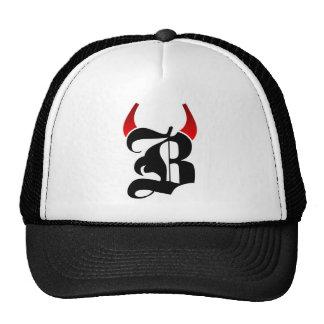B Logo Cap Trucker Hat