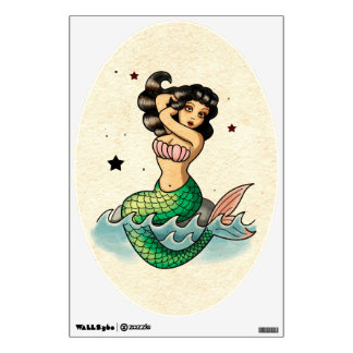 <b>Lovely Mermaid on the rock. </b> This amazing s Room Decal