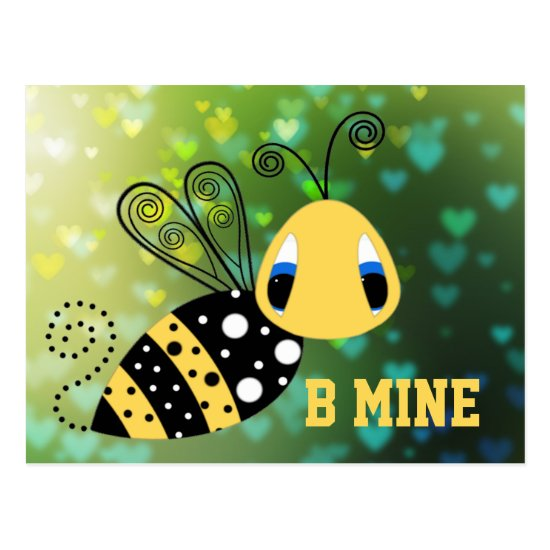 B Mine Bubble Bee Postcard