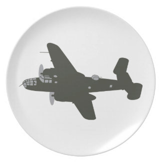 B MITCHELL BOMBER PARTY PLATES