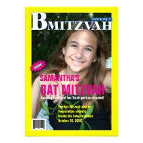 B Mitzvah Magazine Invitation