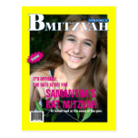 B Mitzvah Magazine Save the Date Postcard
