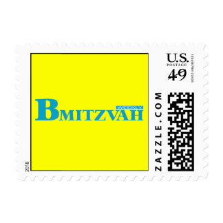 B Mitzvah Magazine Stamp in Turquoise, Small