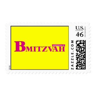 B Mitzvah Magazine Stamp, Medium