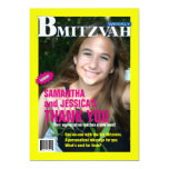 B Mitzvah Magazine Thank You Card, B'Not Personalized Invitation