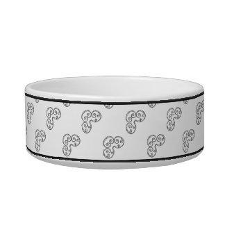 B - Modern Metallic Monogram (Silver) Bowl