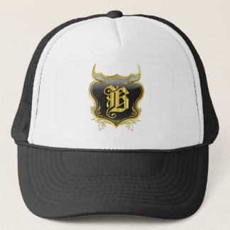B Monogram Customize Edit Change Background Color Trucker Hat