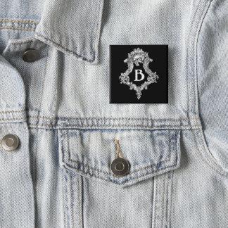 B Monogram Initial Button