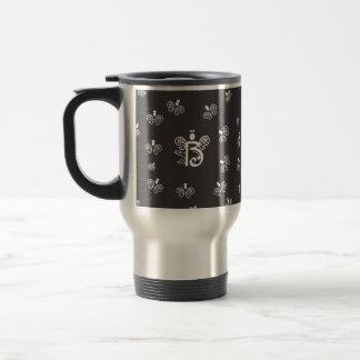 B Monogram Initial with tiny angels Travel Mug