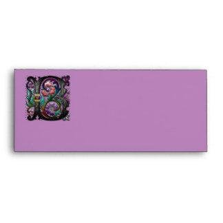 B Monogram Letter Art Envelope