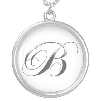 B Monogram Pendant