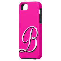 B Monogram Pink IPhone 5 Case
