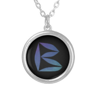 B Monogram Silver Plated Necklace