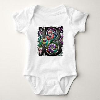 B Monogram Two Large Binder Baby Bodysuit