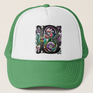 B Monogram Two Large Binder Trucker Hat
