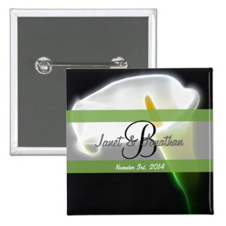 B Monogram with an Elegant Calla Lily Button