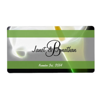 B Monogram with an Elegant Calla Lily  Label Shipping Label