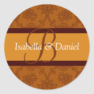B Monograms For Envelope Seals Stickers