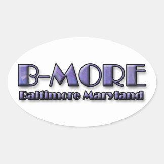 B-MORE Baltimore Maryland Logo Oval Sticker