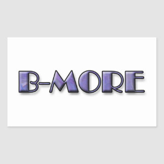 B-MORE Logo Rectangular Sticker