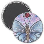 B-mosca del monarca iman de nevera