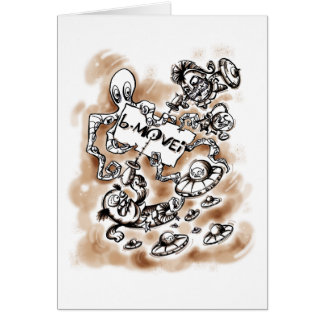 B Movie Comics Style Stationery Note Card