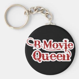 B Movie Queen Basic Round Button Keychain