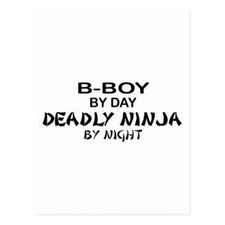 B-Muchacho Ninja mortal por noche Tarjetas Postales