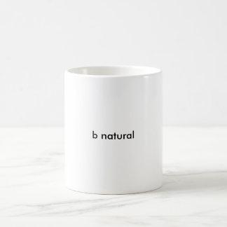 b natural taza básica blanca