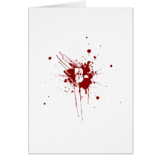 B Negative Blood Type Donation Vampire Zombie Greeting Card
