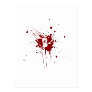 B Negative Blood Type Donation Vampire Zombie Postcard