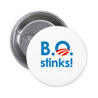 B.O. Hedores/Anti-Obama Pin Redondo De 2 Pulgadas