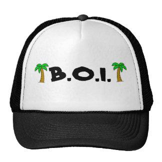 B.O.I. Llevado en logotipo del isleño de la isla Gorras De Camionero