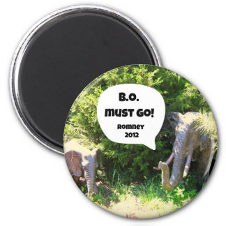 B.O. must go!  Romney 2012 2 Inch Round Magnet