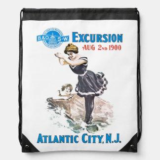 B+O Railroad Excursion 1900 Drawstring Backpack