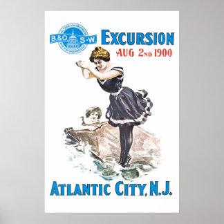 B+O Railroad Excursion 1900 Poster