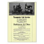 B+O Railroad Taxameter Cab Service 1908 Card