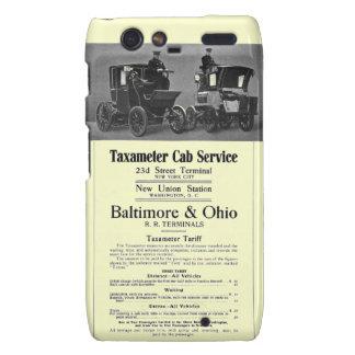B+O Railroad Taxameter Cab Service 1908 Droid RAZR Case