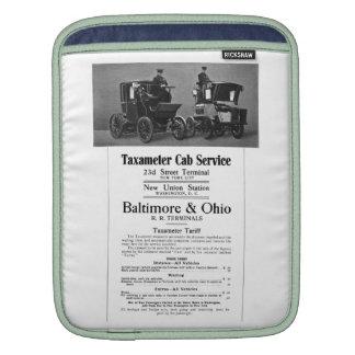 B+O Railroad Taxameter Cab Service 1908 Sleeve For iPads