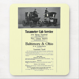 B+O Railroad Taxameter Cab Service 1908 Mouse Pad