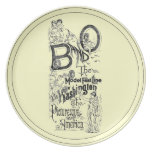 B&O Railroad-The Model Fast Line 1869 Dinner Plate