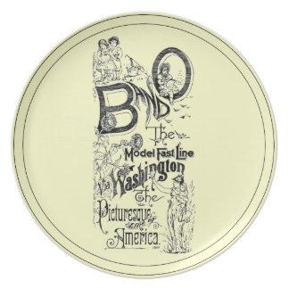B&O Railroad-The Model Fast Line 1869 Dinner Plate