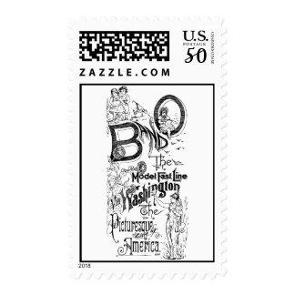 B&O Railroad-The Model Fast Line 1869 Postage